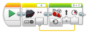 Der gemessene Abstand kann zum Beispiel auch als Wert für die Geschwindigkeit verwendet werden.